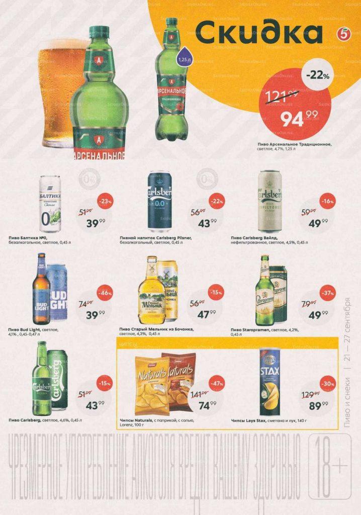 Каталог товаров и акции в Пятерочке с 21 по 27 сентября 2021 года